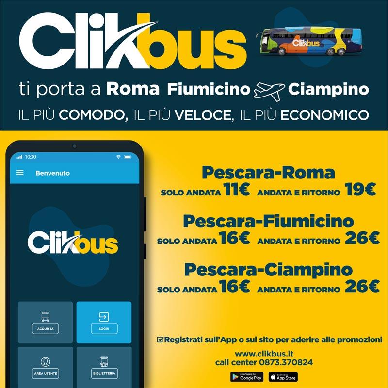 Autobus a partire da 11€ da Pescara per Roma - Fiumicino ...